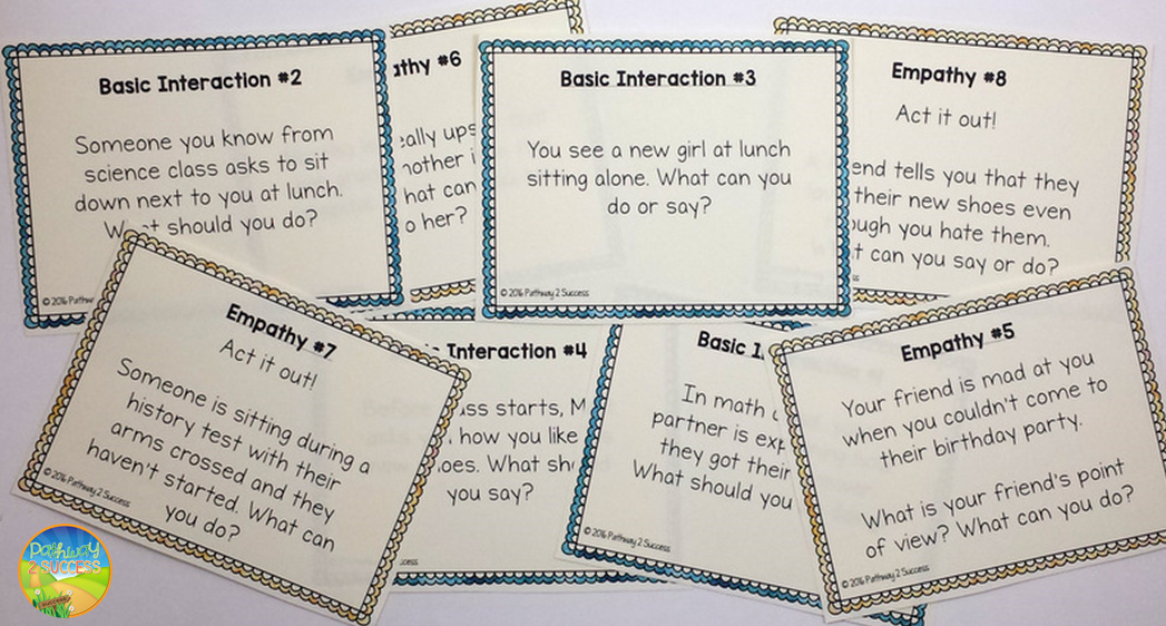 Social Skills Task Cards for MS HS
